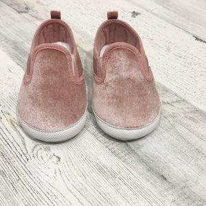 Carter's Blush Pink Glitter Slip-On Crib Shoes